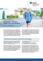 """DGUV - Handlungshilfe """"Coronavirus - Hinweise für den Kita- und Schulweg"""""""