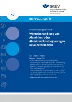 Wärmebehandlung von Aluminium oder Aluminiumknetlegierungen in Salpeterbädern