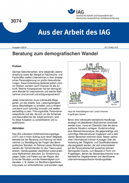 Beratung zum demografischen Wandel (Aus der Arbeit des IAG Nr. 3074)