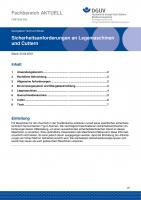 """FBETEM-003 """"Sicherheitsanforderungen an Legemaschinen und Cuttern"""""""