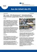 """Der neue """"IFA-Staubreport"""": Arbeitsbedingte Expositionen gegenüber Staub in Deutschland"""