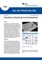 Checkliste zur Bewertung von Internetauftritten. Aus der Arbeit des IAG Nr. 3028