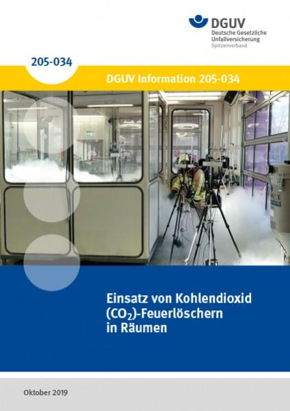 Einsatz von Kohlendioxid (CO2)-Feuerlöschern in Räumen, DGUV Information 205-034