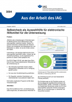 Selbstcheck als Auswahlhilfe für elektronische Hilfsmittel für die Unterweisung (Aus der Arbeit des IAG Nr. 3094)