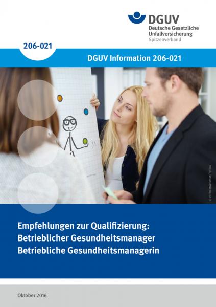 Empfehlung für die Qualifizierung zum/zur Betrieblichen Gesundheitsmanager/in