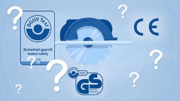 DGUV Test - CE-Kennzeichnung und Prüfzeichen