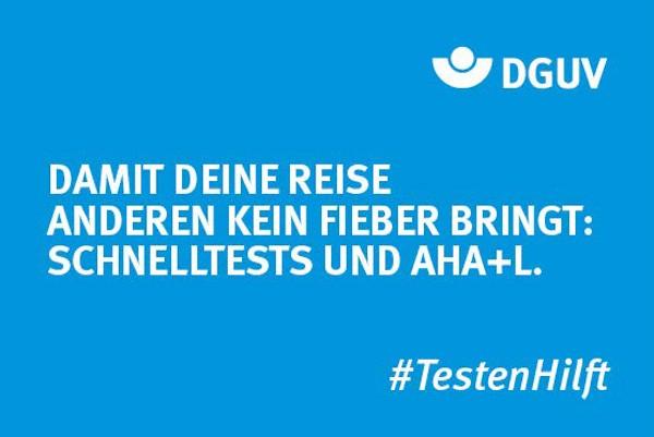 "Motiv #TestenHilft ""Fieber"" (DGUV)"