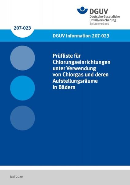 Prüfliste für Chlorungseinrichtungen unter Verwendung von Chlorgas und deren Aufstellungsräume in Bä