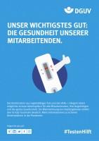 """Plakat #TestenHilft, Motiv """"wichtigstes Gut"""" (DGUV)"""