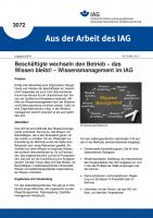 Beschäftigte wechseln den Betrieb - das Wissen bleibt! - Wissensmanagement im IAG (Aus der Arbeit des IAG Nr. 3072)