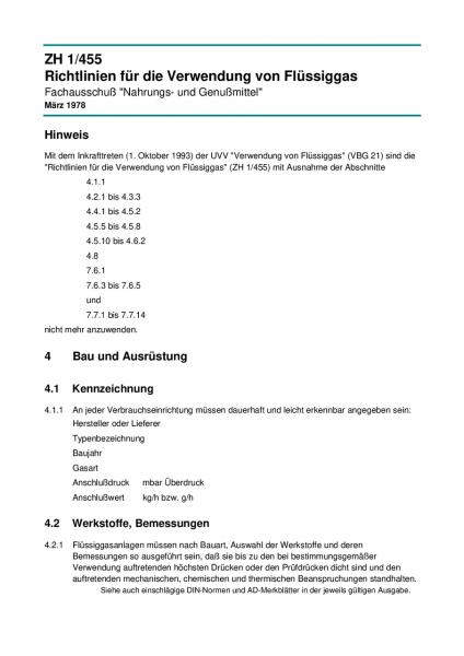 Richtlinien für die Verwendung von Flüssiggas