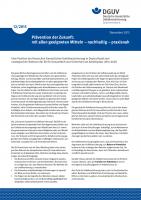 Prävention der Zukunft: mit allen geeigneten Mitteln – nachhaltig – praxisnah
