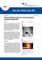 Gefahrstoffinformationen und Grenzwerte kompakt dargestellt. Aus der Arbeit des IFA Nr. 0097