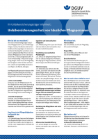 Informationsblatt Unfallversicherungsschutz von häuslichen Pflegepersonen