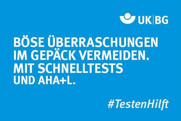 """Motiv #TestenHilft, """"Böse Überraschungen vermeiden"""" (UK BG)"""