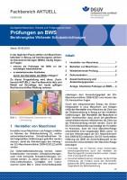 "FBHM-085 ""Prüfungen an BWS Berührungslos Wirkende Schutzeinrichtungen°"
