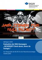 """IAG Report 1/2019 Evaluation der RAG-Kampagne """"SICHERHEIT! Denk daran, bevor du loslegst"""""""