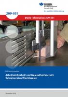 Arbeitssicherheit und Gesundheitsschutz Schreinereien/Tischlereien