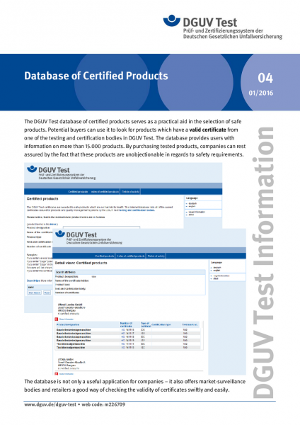 Database of Certified Products