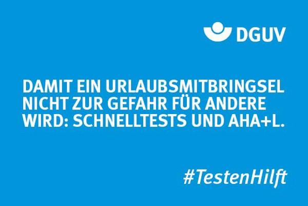 "Motiv #TestenHilft ""Urlaubsmitbringsel"" (DGUV)"