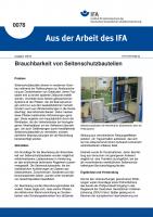 Brauchbarkeit von Seitenschutzbauteilen. Aus der Arbeit des IFA Nr. 0078