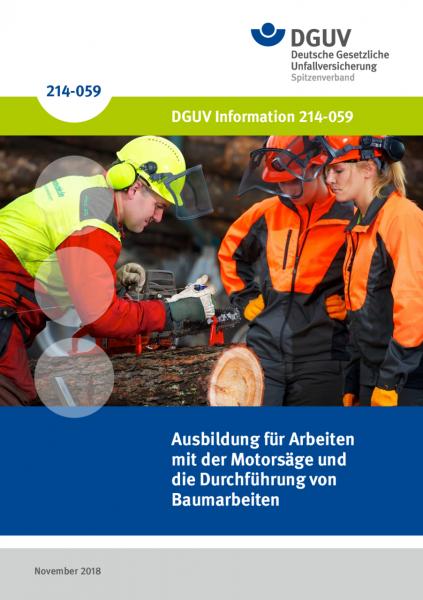Ausbildung für Arbeiten mit der Motorsäge und die Durchführung von Baumarbeiten