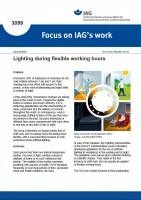 Lighting during flexible working hours (Focus on IAG´s work IAG 3099)