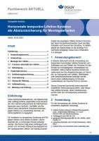 """FBBAU-001 """"Horizontale temporäre Lifeline-Systeme als Absturzsicherung für Montagearbeiten"""""""