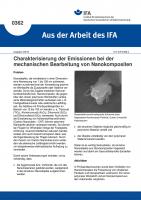 Charakterisierung der Emissionen bei der mechanischen Bearbeitung von Nanokompositen (Aus der Arbeit des IFA Nr. 0362)