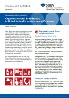 """FBFHB-005 """"Organisatorischer Brandschutz in Unterkünften für asylsuchende Personen"""""""