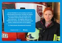 "Plakat #ImpfenSchützt, Motiv ""Frau Dr. Bunke"" (UK|BG) Querformat"