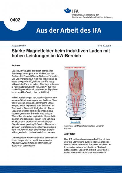 Starke Magnetfelder beim induktiven Laden mit hohen Leistungen im kW-Bereich (Aus der Arbeit des IFA