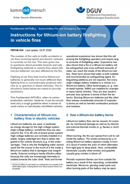 "FBFHB-024 ""Instructions for lithium-ion battery firefighting in vehicle fires"""
