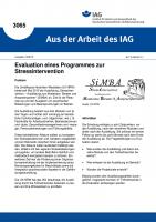 Evaluation eines Programmes zur Stressintervention (Aus der Arbeit des IAG Nr. 3065)