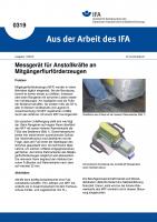 Messgerät für Anstoßkräfte an Mitgängerflurförderzeugen. Aus der Arbeit des IFA Nr. 0319