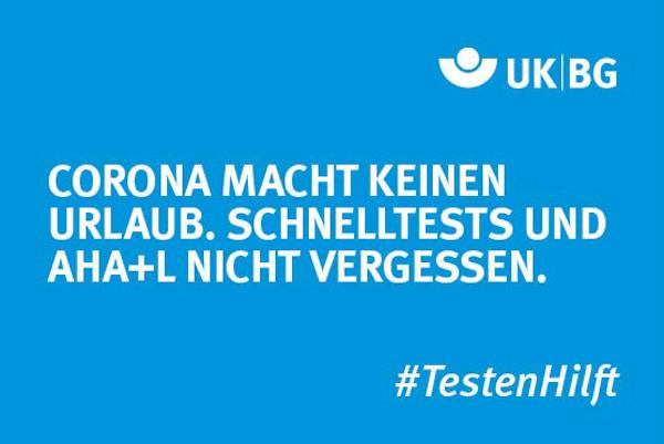 """Motiv #TestenHilft """"Keinen Urlaub"""" (UK BG)"""