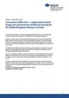 Coronavirus SARS-CoV-2 - Ergänzende Empfehlungen der gesetzlichen Unfallversicherung für die Gefährdungsbeurteilung in Schulen
