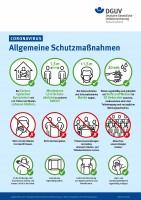 Coronavirus - Allgemeine Schutzmaßnahmen (Plakat, DIN A3)