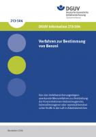 Verfahren zur Bestimmung von Benzol