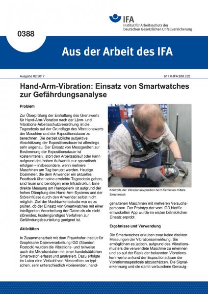 """Hand-Arm-Vibration: Einsatz von Smartwatches zur Gefährdungsanalyse (""""Aus der Arbeit des IFA"""" Nr. 03"""