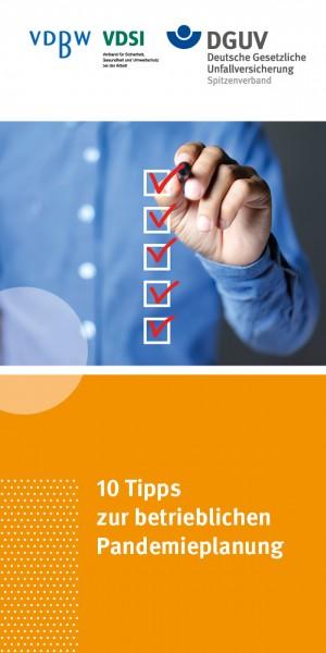 10 Tipps zur betrieblichen Pandemieplanung