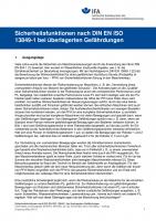 Sicherheitsfunktionen nach DIN EN ISO 13849-1 bei überlagerten Gefährdungen