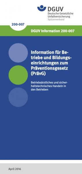 Information für Betriebe und Bildungseinrichtungen zum Präventionsgesetz (PrävG)