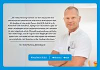 Plakat #ImpfenSchützt, Motiv: Dr. Heiko Martens (DGUV und BG Kliniken) Querformat