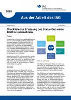 Checkliste zur Erfassung des Status Quo eines BGM in Unternehmen (Aus der Arbeit des IAG Nr. 3050)