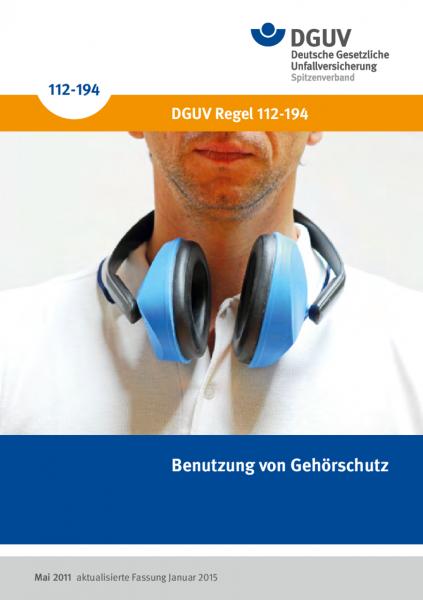 Benutzung von Gehörschutz