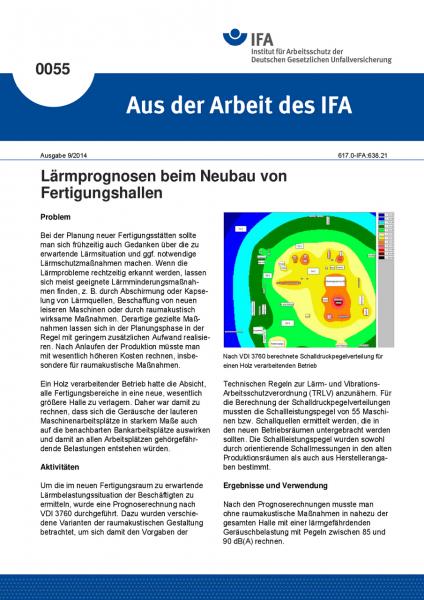 Lärmprognosen beim Neubau von Fertigungshallen. Aus der Arbeit des IFA Nr. 0055