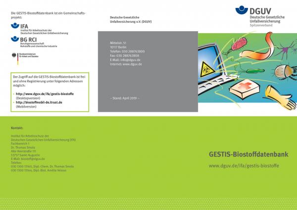 GESTIS-Biostoffdatenbank - www.dguv.de/ifa/gestis-biostoffe