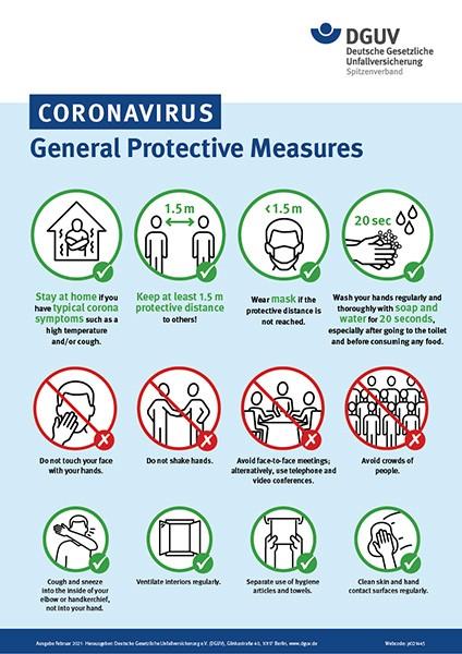Coronavirus - General Protective Measures