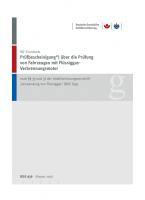 """Prüfbescheinigung über die Prüfung von Fahrzeugen mit Flüssiggas-Verbrennungsmotor durch den Sachkundigen nach § 33 und 37 UVV """"Verwendung von Flüssiggas"""" (BGV D34)"""